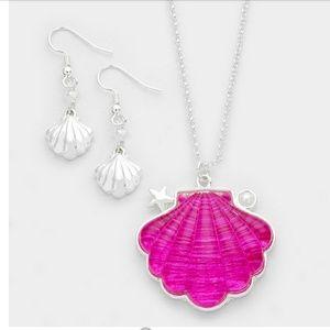 Epoxy Shell Pendant Necklace